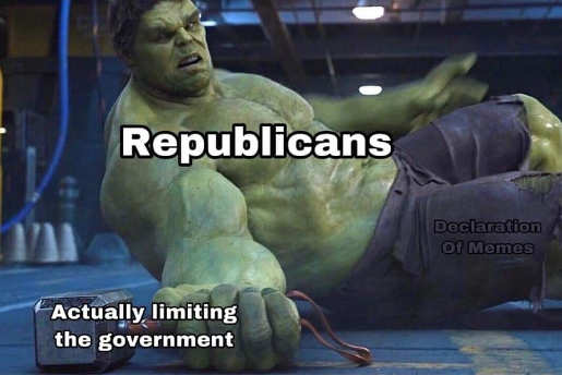 republicans actually limiting government hulk thor hammer