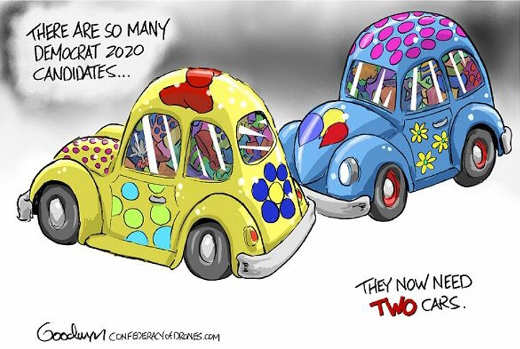 so many democratic 2020 candidates need another clown car