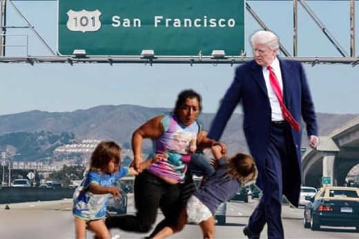 trump dropping off immigrants in san francisco