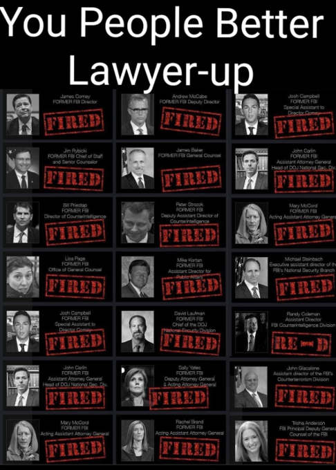 you people better lawyer up comey strok other democrats