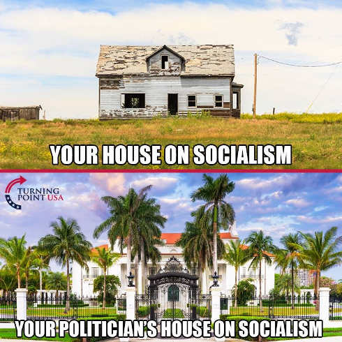 your house on socialism compared to politicians house