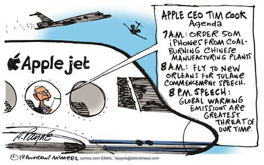 apple jet speeches cold plants in china help climate change