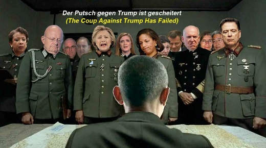 coup attempt against trump has failed obama hillary clapper comey brennan lynch