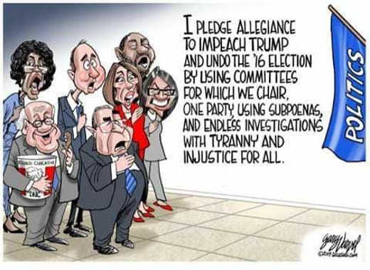 democrats pledge allegiance to politics impeach trump schiff nadler injustice for all