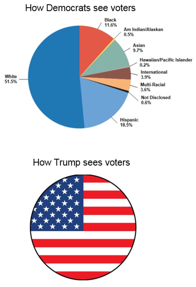 how democrats see voters race blocks trump as americans