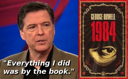 james comey done everything by the book 1984