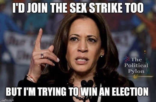 kamala harris id join sex strike but trying to win election