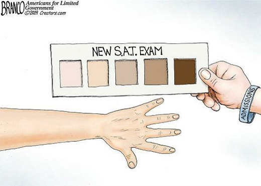 new sat exam based standards based on color of skin