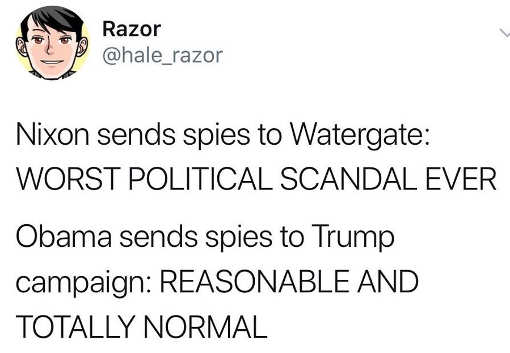 nixon watergate spying worst scandal ever obama spies on trump reasonable and normal