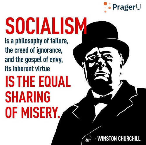 quote churchill socialism failure ignorance equal sharing of misery