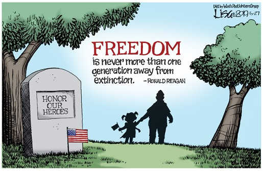 quote freedom is only one generation from extinction ronald reagan