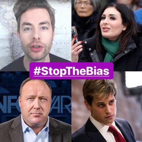 stop the bias of conservatives big tech jones milo laura