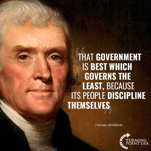 thomas jefferson government is best that governs least people discipline themselves