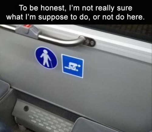 to be honest not know what do or not do sign bus