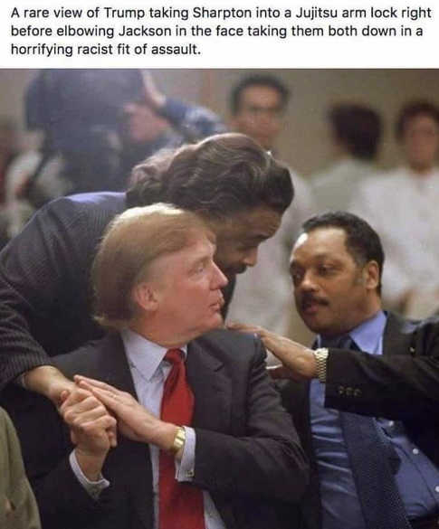 trump makes jujizu racist move on sharpton jessie jackson