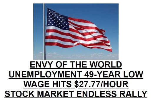 trump unemployment 49 year low wages up stock market endless rally