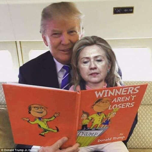 winners arent losers trump reading to hillary clinton