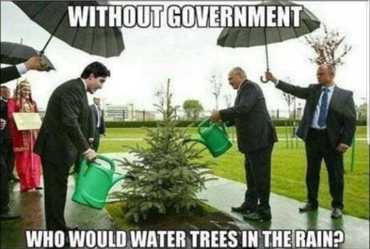 without government how would you know to water trees in the rain trudeau