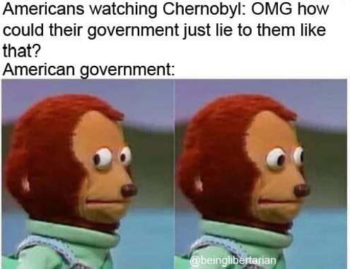 americans watching chernobyl omg how could government lie to people