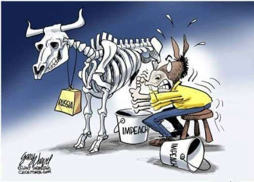 democrats milking skeleton cow russia impeachment