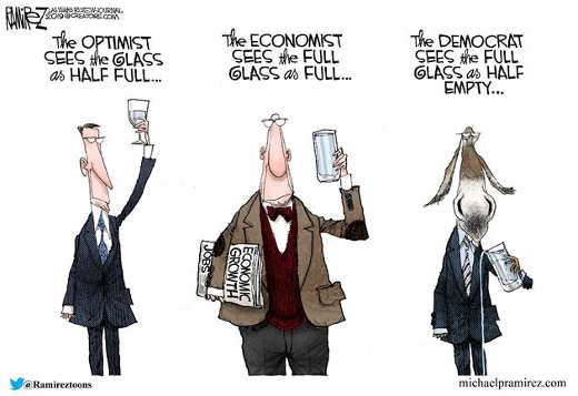 democrats pouring out full glass optimist pessimist