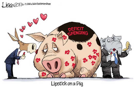 democrats republicans lipstick on pig deficit spending
