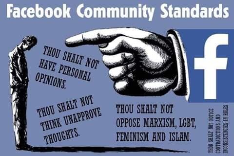 facebook community standards though shall not have opinions unapproved thoughts