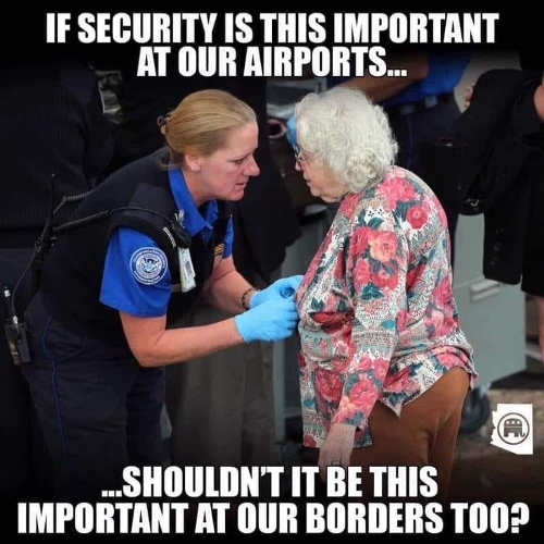 if security this important at airports should be at border tsa old lady