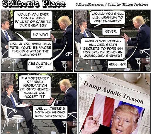 stephanapolous trump admits treason listeing foreigner