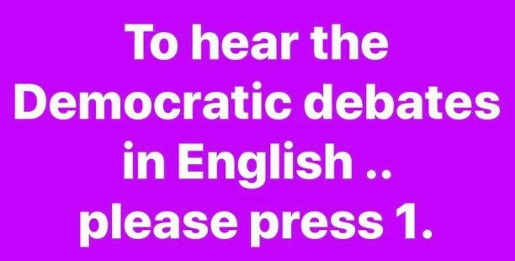 to hear democratic debates in english press 1