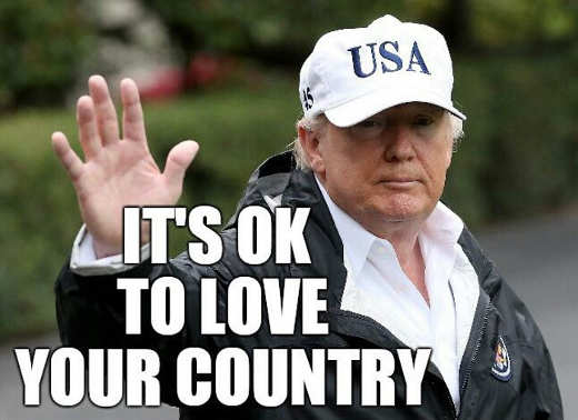 trump its ok to love your country