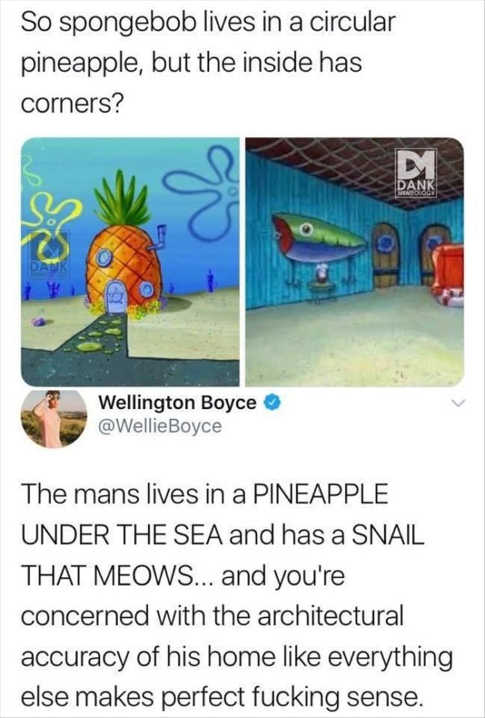 tweet sponge bob square rooms pineapple under the sea
