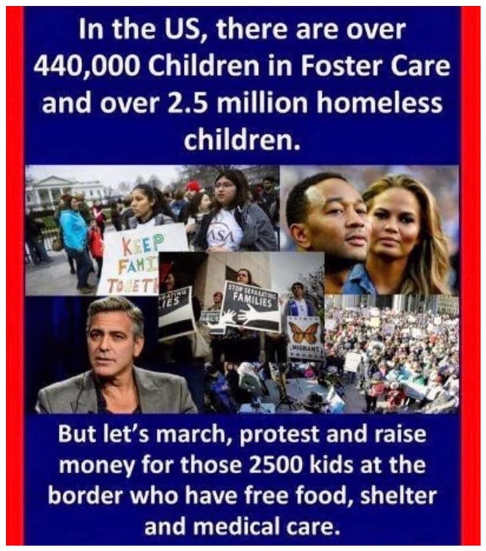 2.5 million homeless children 440000 foster care lets protest 2500 held at border