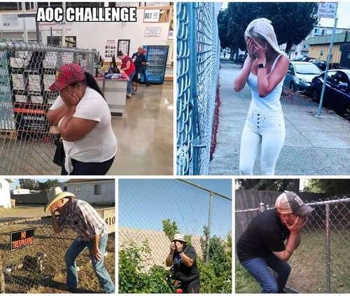 aoc challenge ocasio cortez faking crying