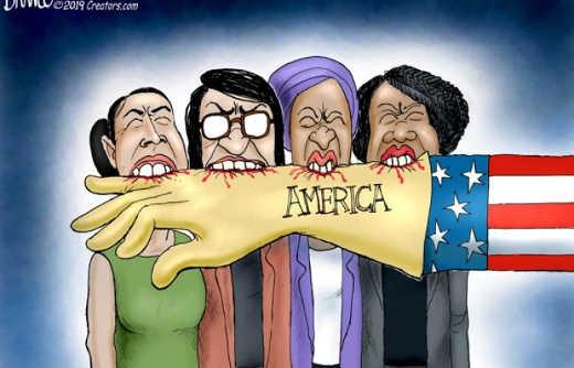 aoc omar tlaib pressley biting the hand that feeds them america