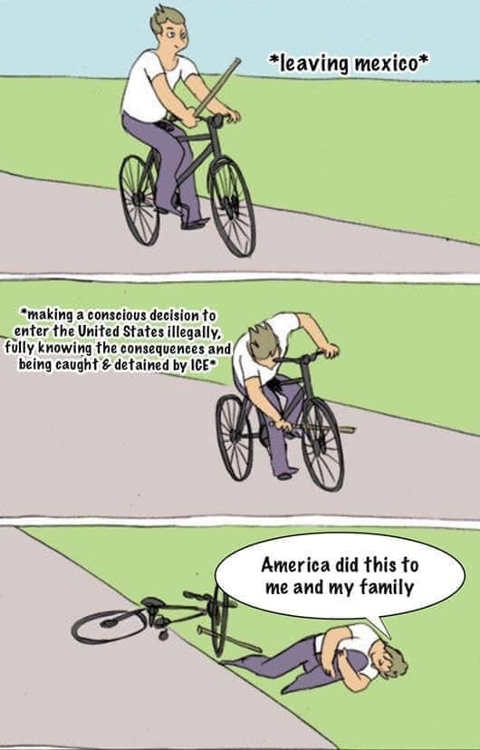 bike spokes immigrants coming knowing ice will put in cages