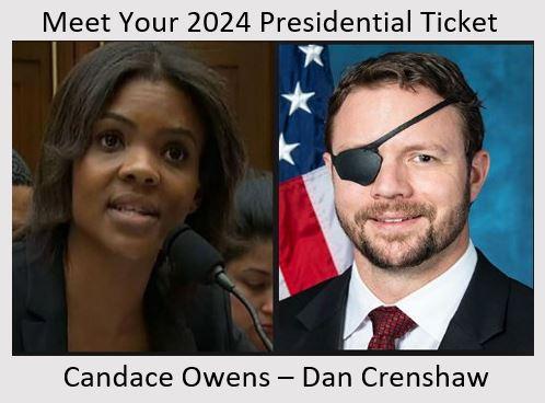 candace owens dan crenshaw 2024 presidential ticket