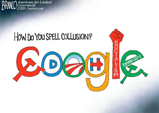 how do you spell collusion google socialism hillary enviro lept democrats