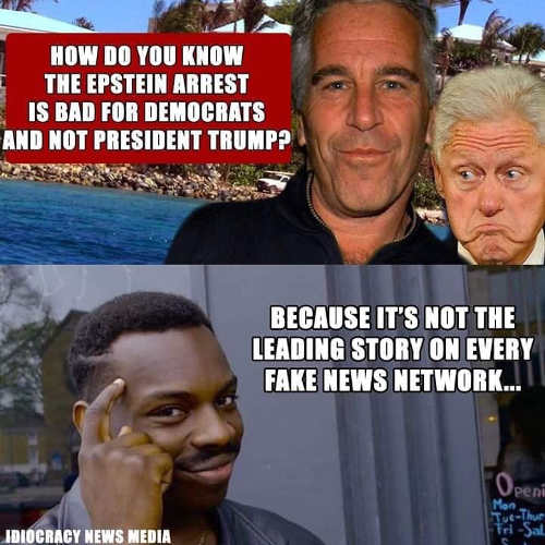 how you know democrats in trouble with epstein not leading story on fake news network