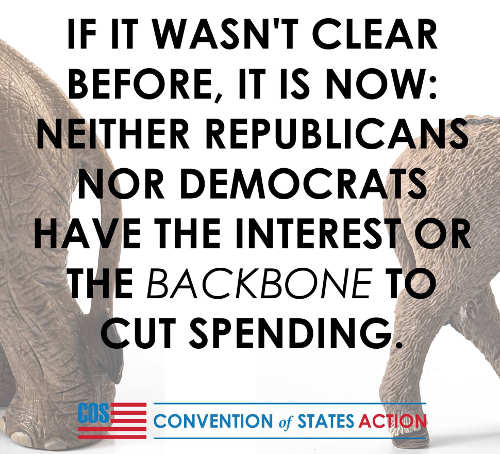 if it wasnt clear neither republicans nor democrats have backbone to cut spending