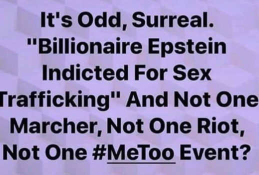 its odd billionaire indicted for sex trafficking no metoo marches