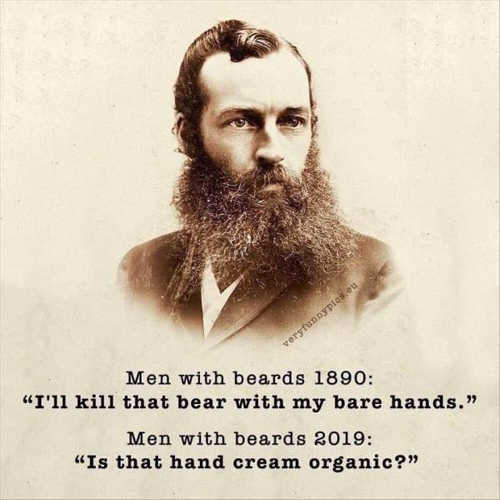 men with beards 1890 kill bears 2019 hand cream organic