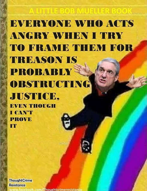 mueller book anyone who acts angry at frame job is obstructing
