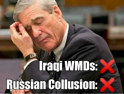 mueller iraq wmds russian collusion found neither