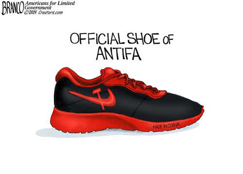 official shoe of antifa nike made in china soviet logo