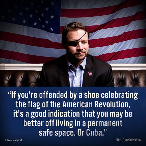 quote if youre offended by shoe celebrating flag dan crenshaw