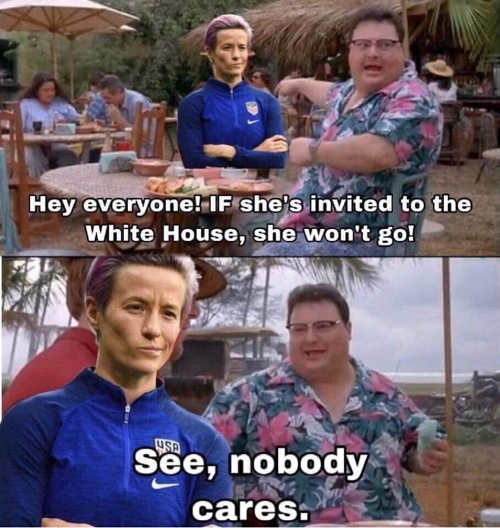 rapinoe hey everyone she wont go to white house if invited see nobody cares