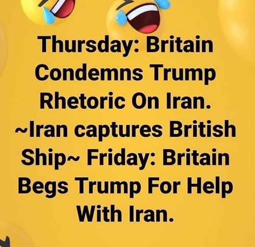 thursday britain condemns trump rhetoric ira captures british ship beg for help
