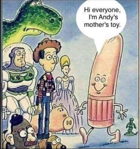 toy story im andys mothers toy dildo