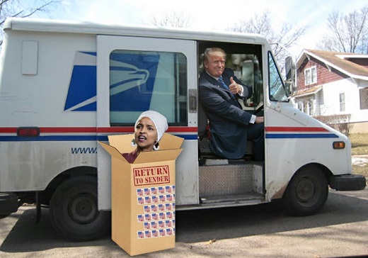 trump post office omar return to sender